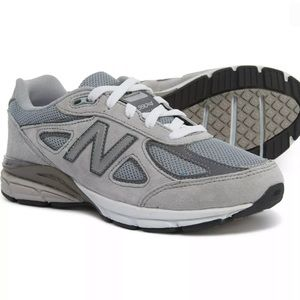 New Balance 990 V4 Kids Suede Reflective Shoes